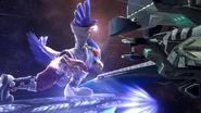 Créditos Modo Senda del guerrero Falco SSB4 (Wii U)