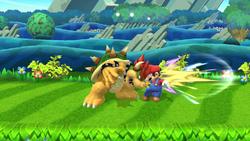 Golpiza de Bowser SSB4 (Wii U)