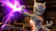 Mewtwo realizando una burla en la Pirosfera SSB4 (Wii U)