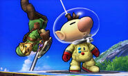 Olimar en la versión de 3DS (SSB. for 3DS)