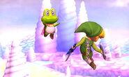 Príncipe de Sablé transformado en rana en Magicant SSB4 (3DS)