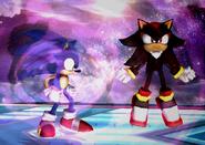 Shadow y Sonic SSBB