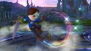 Espadachín Mii usando Tajo revés (1) SSB4 (Wii U)