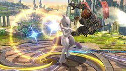 Lanzamiento hacia arriba Mewtwo (2) SSB4 (Wii U)