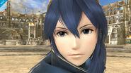 Marca de Naga en el ojo de Lucina SSB4 (Wii U)