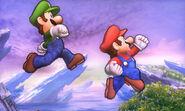 Mario y Luigi en el Campo de Batalla SSB4 (3DS)