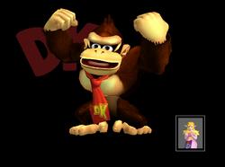 Pose de victoria Donkey Kong B SSBM