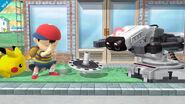 R.O.B., Ness y Pikachu en Onett SSB4 (Wii U)