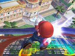 Ataque Smash hacia arriba (1) Mario SSBB
