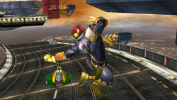 Ataque aéreo hacia atrás Captain Falcon SSBB