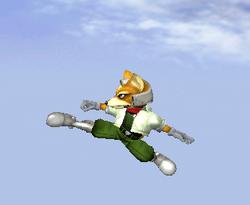 Ataque aéreo hacia atrás de Fox SSBM
