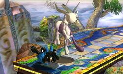 Lanzamiento hacia abajo Mewtwo (1) SSB4 (3DS)