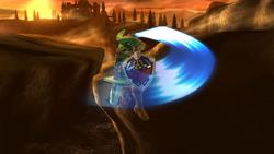 Ataque aéreo delantero de Link (2) SSB4 (Wii U)