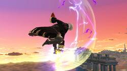 Ataque aéreo hacia abajo Robin SSB4 (Wii U)