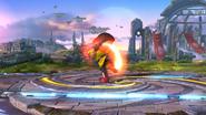Karateka Mii usando Patada explosiva (1) SSB4 (Wii U)