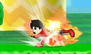 Karateka Mii usando Patada explosiva SSB4 (3DS) (2)
