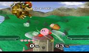 Kirby usando Martillo en el suelo SSBM