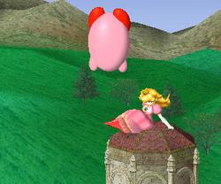Lanzamiento hacia abajo de Peach (4) SSBM