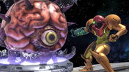 Samus junto a Mother Brain SSBU
