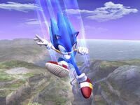 Ataque aéreo inferior Sonic SSBB