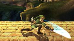 Ataque fuerte hacia abajo Link SSBB (2)