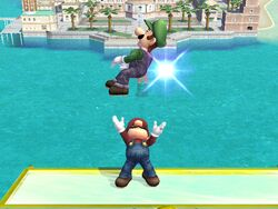 Lanzamiento hacia arriba (2) Mario SSBB