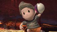 Lucas lanzando una Máster Ball SSBU