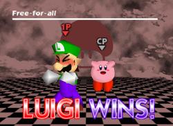 Pose de victoria de Luigi (3) SSB
