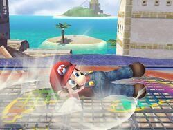 Ataque Smash hacia abajo (1) Mario SSBB