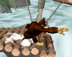 Ataque de recuperación de cara al suelo de Donkey Kong (2) SSBM