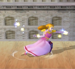 Ataque fuerte lateral de Zelda (1) SSBM