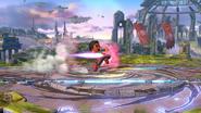 Karateka Mii usando Patadas relámpago (1) SSB4 (Wii U)