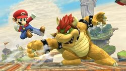 Mario ataque aéreo normal y Bowser SSB4 (Wii U)