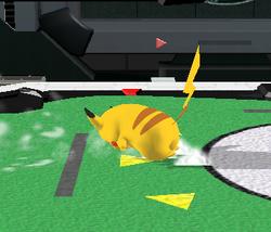 Ataque de recuperación de cara al suelo de Pikachu (2) SSBM