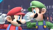 Mario y Luigi en el ring de boxeo - (SSB. for Wii U)