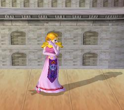 Pose de espera de Zelda (1-1) SSBM