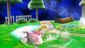Ataque de recuperación boca arriba Peach SSB4 Wii U