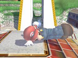 Ataque de recuperación de cara hacia arriba (2) Mario SSBB