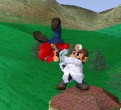 Lanzamiento hacia abajo de Dr. Mario (1) SSBM