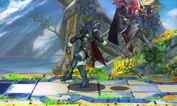 Lanzamiento hacia atrás Lucina SSB4 (3DS)