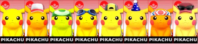 Paleta de colores de Pikachu SSB4 (3DS)