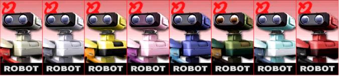Paleta de colores de R.O.B. (JAP) SSB4 (3DS)