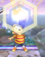 Ataque Smash superior Lucas SSBB (3)