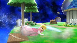 Ataque de recuperación boca abajo Peach SSB4 Wii U