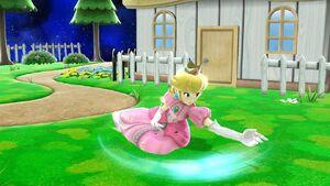 Ataque fuerte hacia abajo Peach SSB4 Wii U