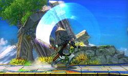Ataque fuerte hacia arriba Lucina SSB4 (3DS)
