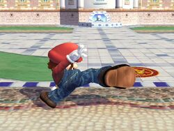 Ataque fuerte lateral hacia adelante Mario SSBB