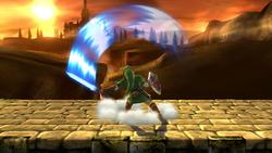 Ataque fuerte superior de Link SSB4 (Wii U)
