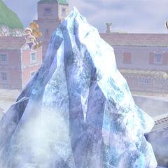 El iceberg saliendo del suelo.