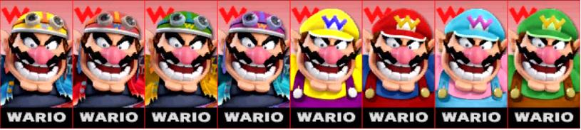 Paleta de colores de Wario SSB4 (3DS)
